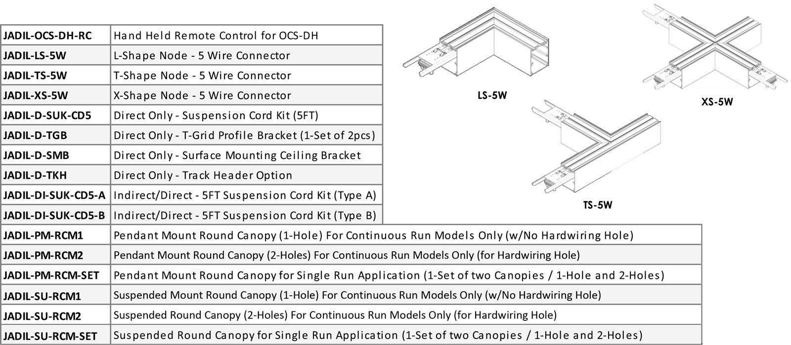 JADIL Architectural Direct Indirect Continuous & Single Run Suspended Linear Series