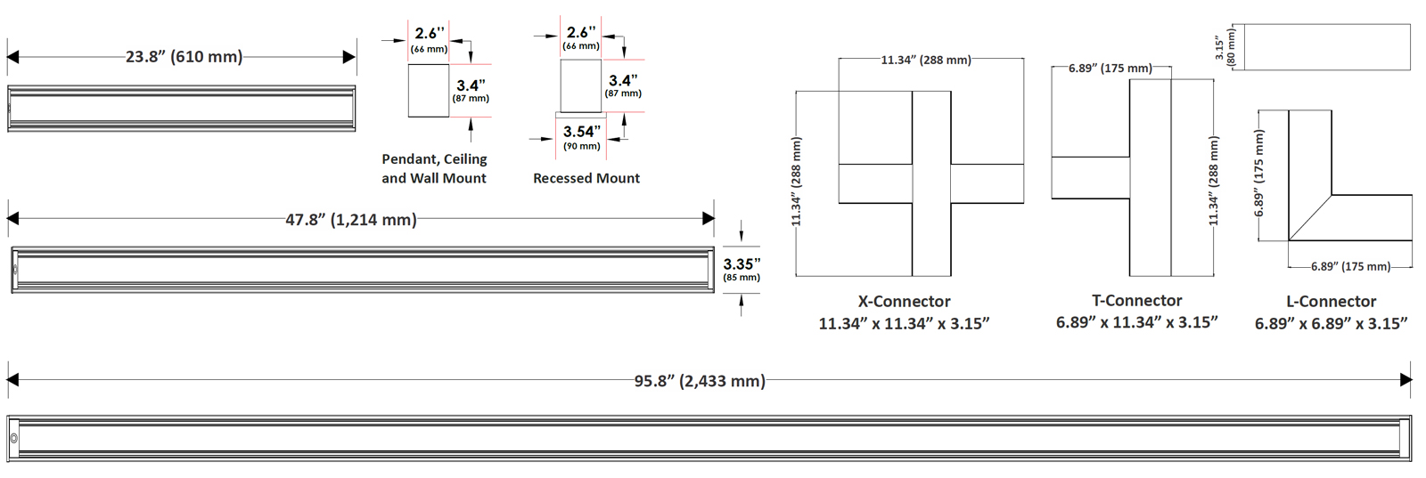 JADIL-CS Architectural Direct Indirect Continuous & Single Run Suspended Linear