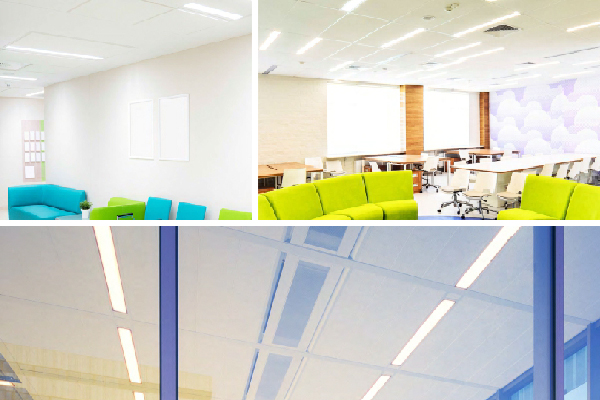 JADLR Architectural T-Grid Recessed Mounted Linear Luminaire