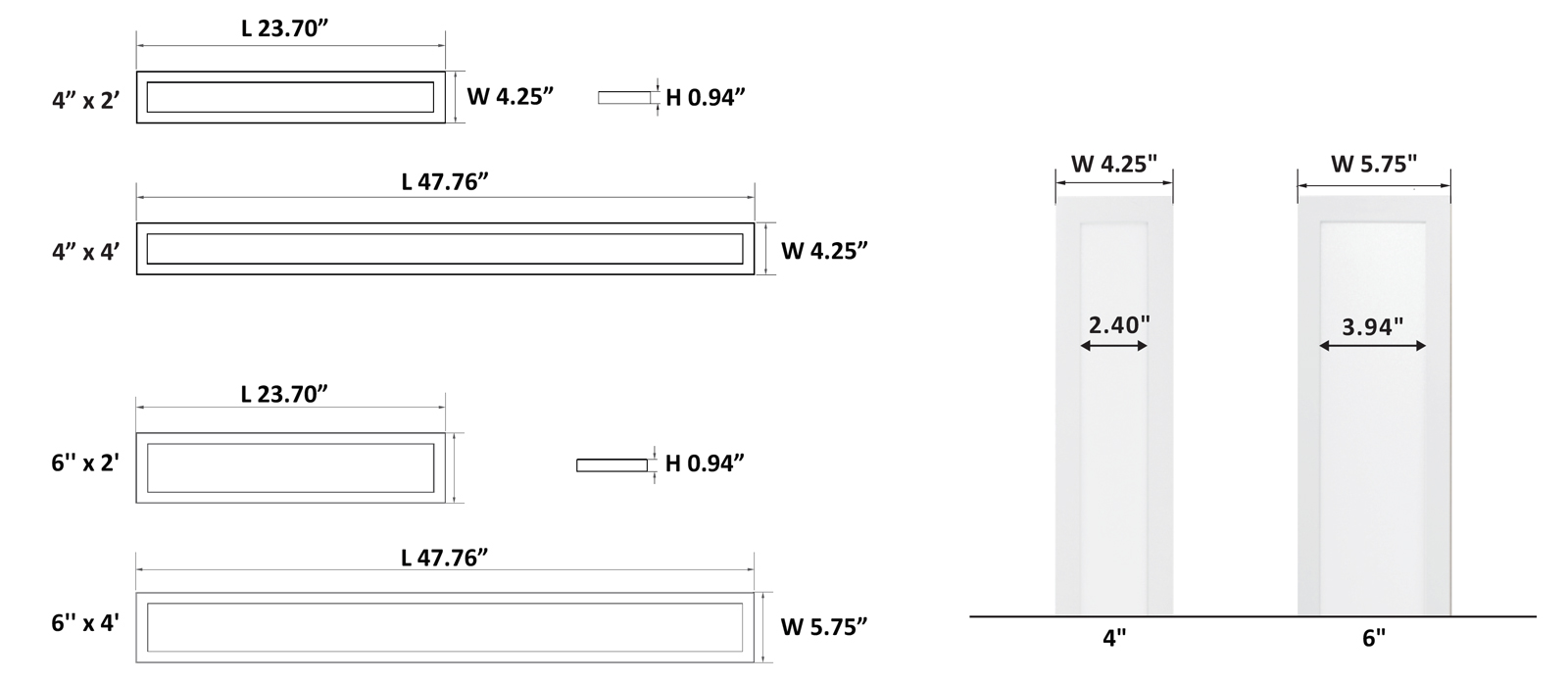 JADLS Architectural Low Profile Surface Mounted Linear Luminaire